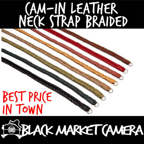 Cam-in Leather Neck Strap Braided