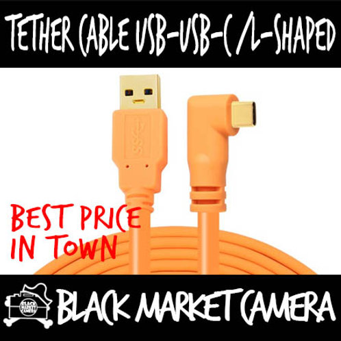 Yellowknife Tether Cable USB - USB-C L-Shape (1.5m/3m/5m/8m/10m)