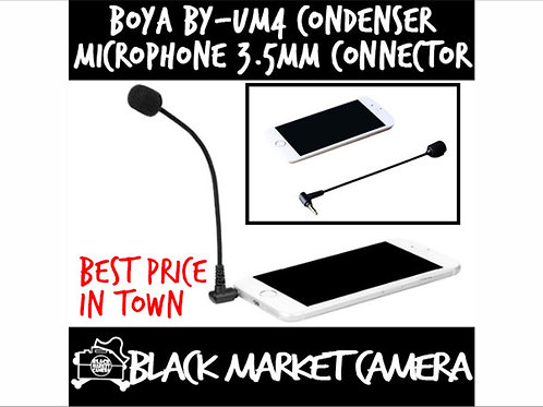 BOYA BY-UM4 Omnidirectional Condenser Microphone 3.5mm TRRS Connector