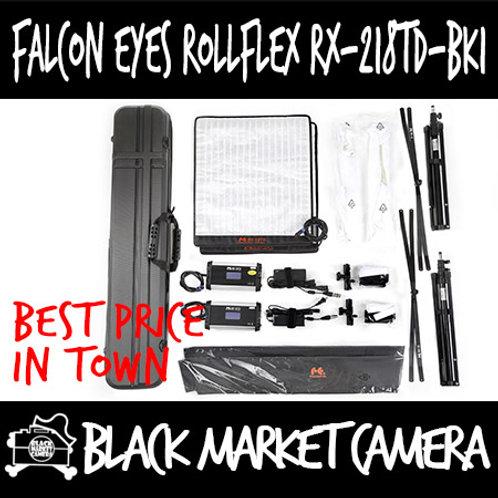 Falcon Eyes RX-218TD-BK1 Bi-Colour Roll-Flex LED Dual Light Kit with Lightstand