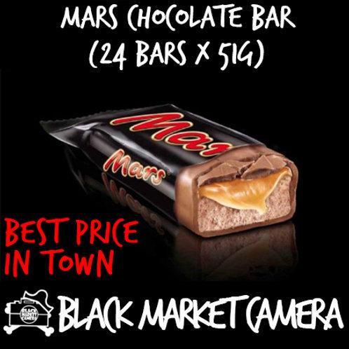 Mars Chocolate Bar (Bulk Quantity, 24 Bars x 51g)