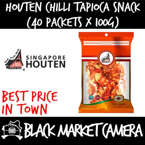 Houten Chilli Tapioca Chips (Bulk Quantity, 40 packets x 100g)