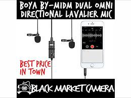 BOYA BY-M1DM Dual Omni-Directional Lavalier Microphone