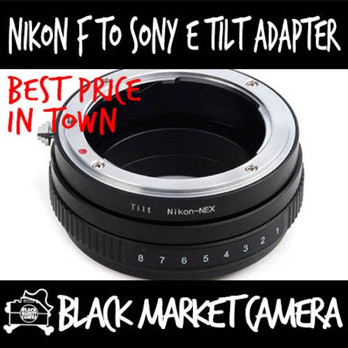 Nikon F Lens to Sony E (NEX) Body Tilt Adapter