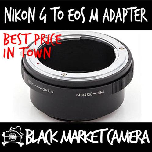 Nikon G Lens to Canon EOS M Camera