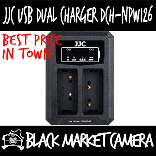 JJC DCH-NPW126 USB Charger for Fujifilm NP-W126/NP-W126S