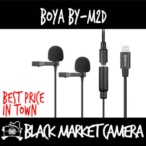 Boya BY-M2D Dual Lavalier Microphone for IOS Devices