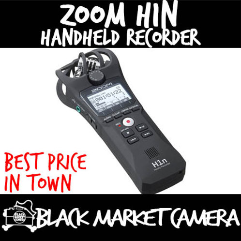 ZOOM H1n 2-Input / 2-Track Portable Handy Recorder