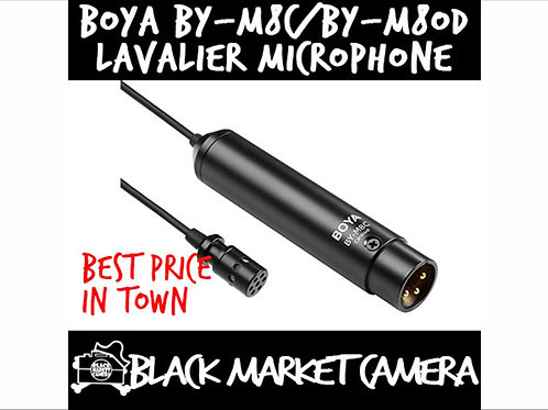 BOYA BY-M8C / BY-M8OD Cardioid/Omni-directional Condenser Lavalier Microphone