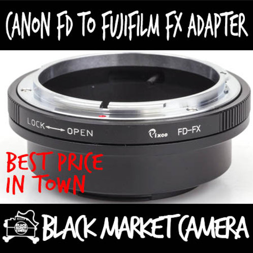 Canon FD Lens to Fuji FX Mount Body Adapter