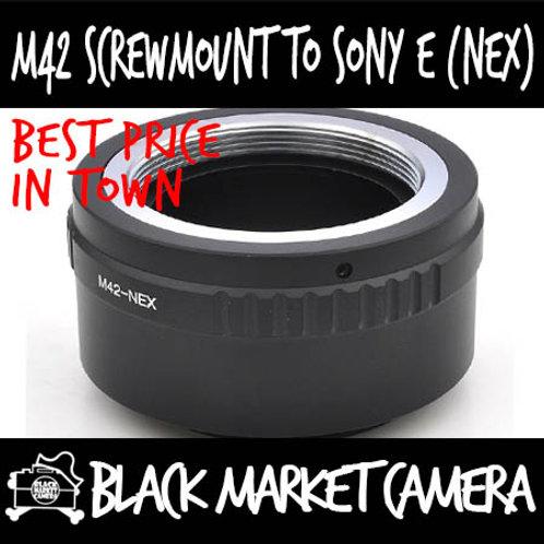 M42 Screwmount Lens to Sony E (NEX) Body Adapter