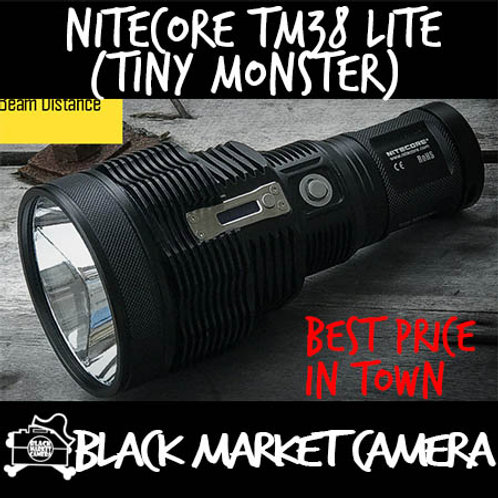 Nitecore TM38 Lite Tiny Monster 1800 Lumens Rechargeable LED Flashlight