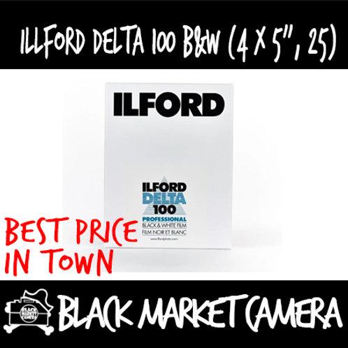 """Ilford Black and White Film Delta 100 (4"""" x 5"""") 25pcs"""