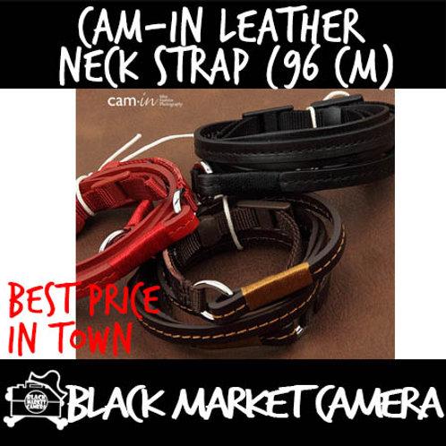 Cam-in Black Leather Neck Strap (96cm)