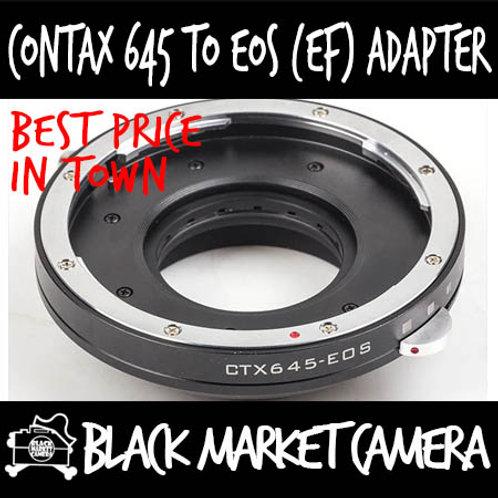 Contax 645 to Canon EOS Lens Adapter (Builtin Aperture)