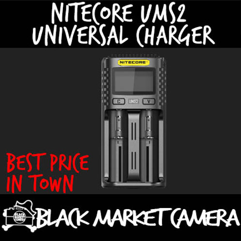 Nitecore UMS2 Intelligent USB Dual-Slot Superb Universal Charger
