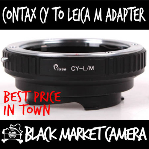 Contax Yashica CY Lens to Leica M Body Adapter
