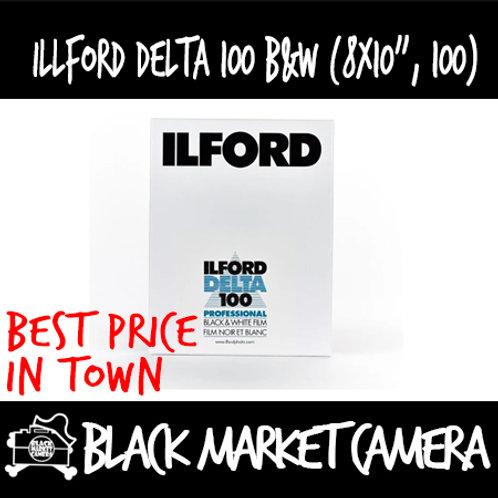 """Ilford Black and White Film Delta 100 (8"""" x 10"""") 25pcs"""