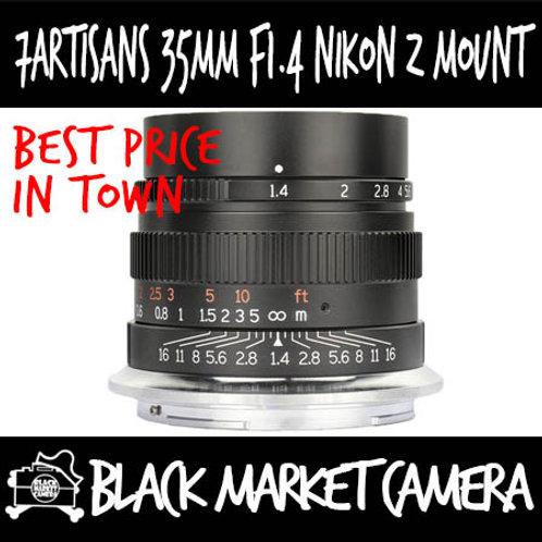 7artisans 35mm F1.4 Full Frame Prime Lens For Nikon Z Mount