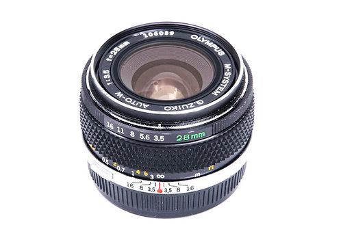 Olympus 28mm F3.5 G.Zuiko Auto-W OM (used) *Rare M-System 1st Version