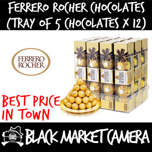 Ferrero Rocher Chocolate (Bulk Quantity, 12 Trays of 5 Chocolates)