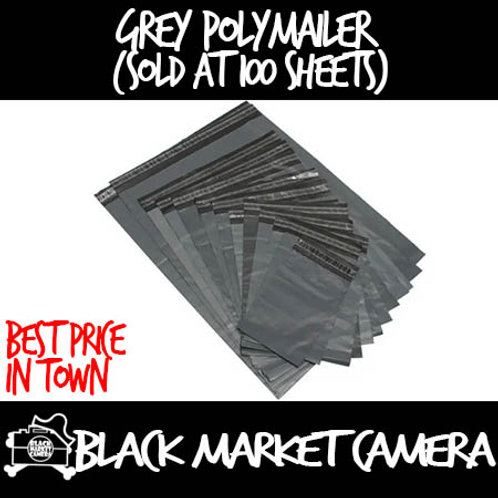 Grey Poly Mailer (Sold in bundle of 100 sheets)