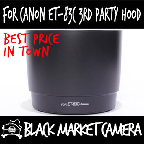For Canon ET-83C 3rd Party Lens Hood