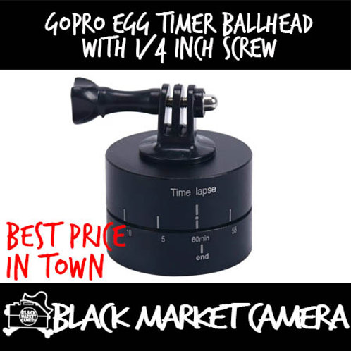 GoPro Egg Timer Ballhead with 1/4 Inch Screw (60/120 minutes 360 Degree)