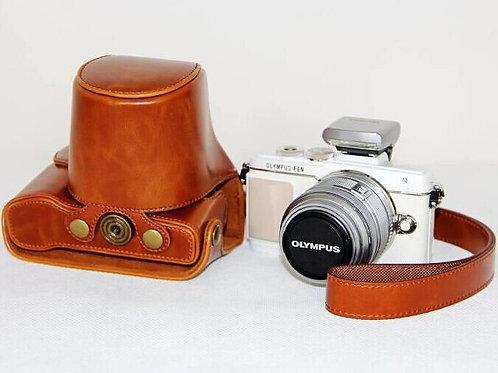 Leather Half Case - Olympus E-PL7