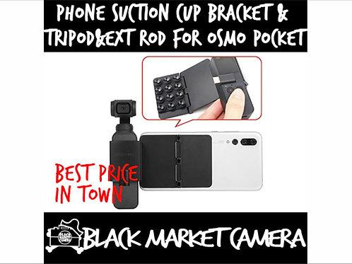 Sunnylife Suction Cup Bracket+Tripod+Extended Rod Kit For DJI OSMO Pocket