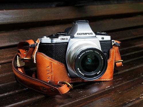 Leather Half Case - Olympus OMD-EM5