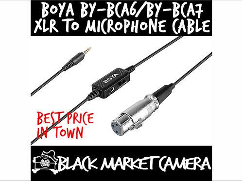 BOYA BY-BCA6 / BY-BCA7 XLR to 3.5mm/Lightning Plug Microphone Cable