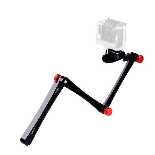 GoPro 3-way foldable, Metal Handle Mount (Red)