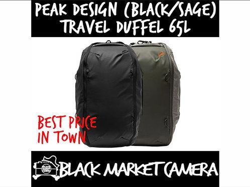 PEAK DESIGN Travel Duffelpack 65L (Black/Sage) BTRDP-65-BK-1 / BTRDP-65-SG-1