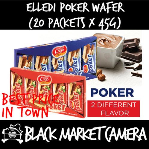 Elledi Poker Wafer (Bulk Quantity, 20 Packets x 45g)