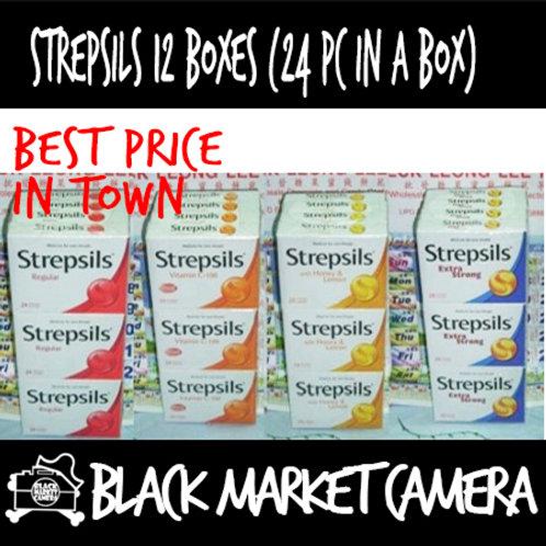 Strepsils[Honey Lemon / Regular / Vitamin C-100 / Cool Mint] 24lo
