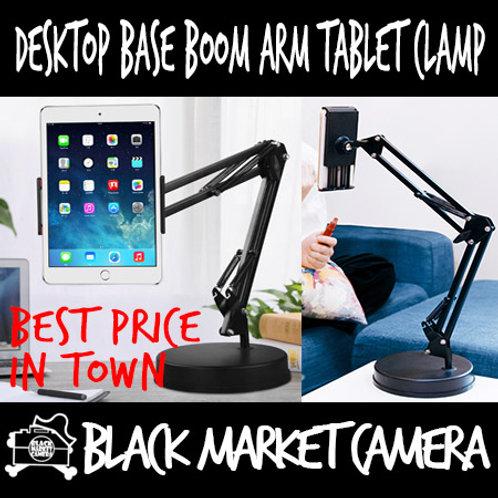 Desktop Base Boom Arm Tablet Clamp
