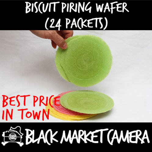Biscuit Piring Wafer (Bulk Quantity, 24 Packets)