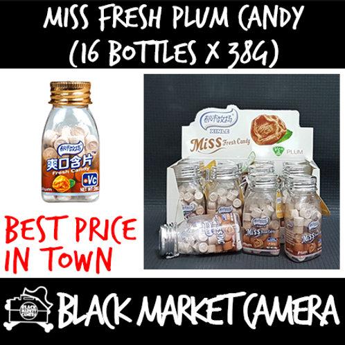 Miss Fresh Plum Candy (Bulk Quantity, 16 Bottles x 38g)