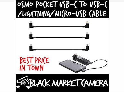 30cm USB-C to Lightning / Micro USB / USB-C Data Cable for DJI OSMO POCKET