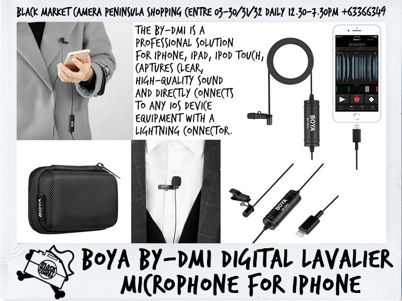 BOYA BY-DM1 / BY-DM2 Digital Lavalier Microphone for Iphone/Android