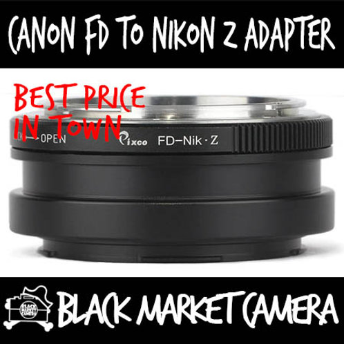 Canon FD Lens to Nikon Z Mount Camera