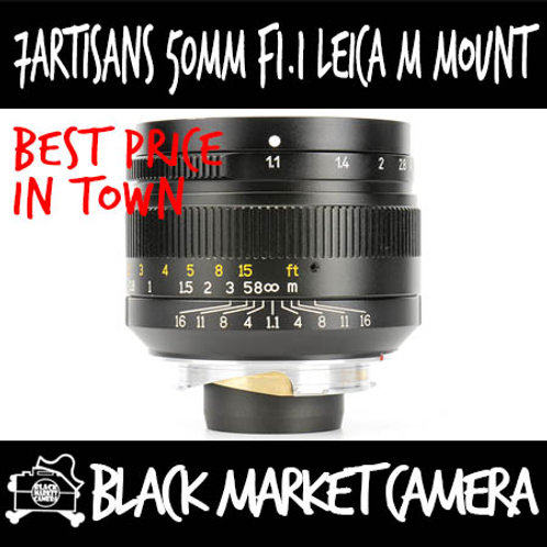 7Artisans 50mm F1.1 Leica M Mount (Black)