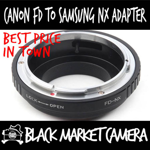 Canon FD Lens to Samsung NX Body Adapter