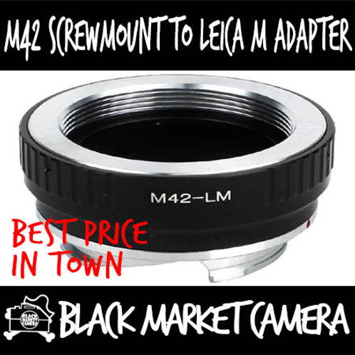 M42 Screwmount to Lens to Leica M Body Adapter