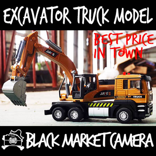 JY 1:45 Construction Excavator Truck Diecast Model