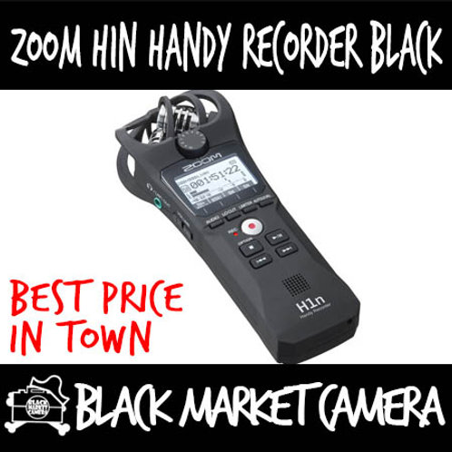 ZOOM H1n Black Portable Handy Recorder (2-Input/ 2-Track)