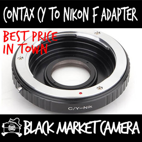Contax CY Lens to Nikon F Body Adapter w/ Glass (Infinity Focus)