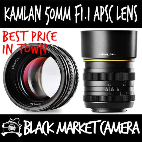 Kamlan 50mm F1.1 APSC Lens (Canon EOS M Mount)