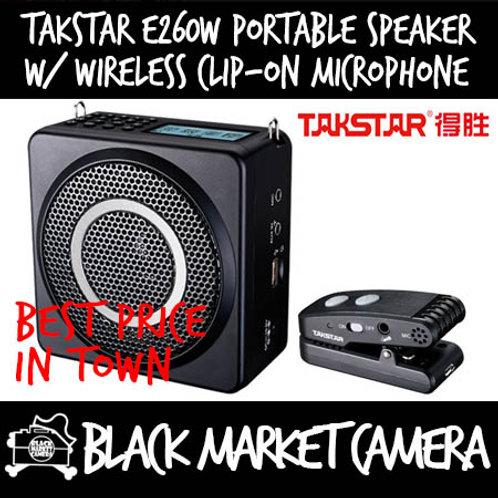 Takstar E260W Portable Speaker (Wireless Clip On Mic/Wired Headset)